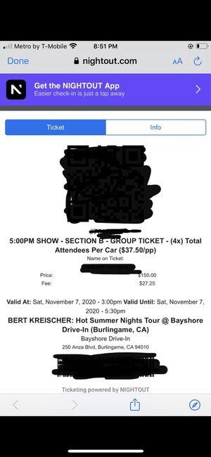 Bert Kreischer hot summer nights comedy tour for Sale in Fair Oaks, CA