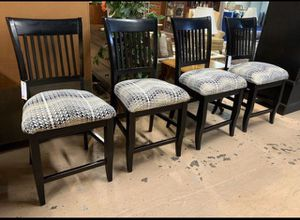 Gorgeous Black Modern Upholstered Stools Matching Set of 4 for Sale in Lehighton, PA