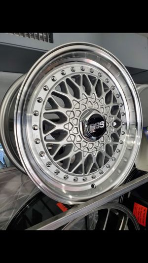 4x100 and 5x100 17x8.5 et35 BBS rs rep wheels fits Honda toyota scion miata rim wheel tire shop for Sale in Tempe, AZ
