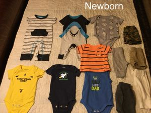 Baby boy clothes and size 1 diapers for Sale in Lakeside, CA