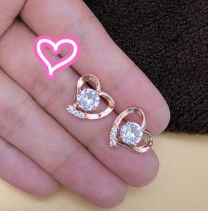 14K Rose Gold Filled Heart Stud Earrings for Sale in San Ramon, CA