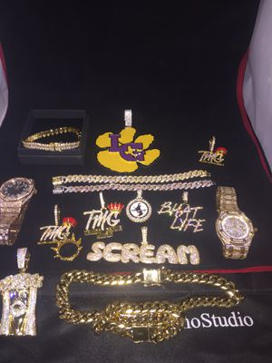 All sizes available!! 14K Gold Filled Cuban Chain and Bracelet!! We Do Custom Work!! Best Top Quality!! Contact us for more details!! for Sale in East Saint Louis, IL