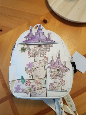 disney loungefly tangled backpack and wallet repunzel new rare discontinued bag for Sale in Hacienda Heights, CA