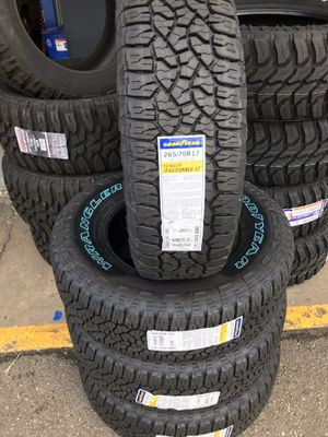 265/70/17 New set of Goodyear AT tires installed for Sale in Ontario, CA