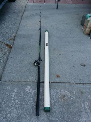 11 feet salmon fishing pool and cabelas case for Sale in Wenatchee, WA