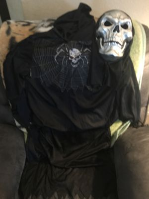 Grim Reaper Halloween Costume Large Youth for Sale in Bakersfield, CA