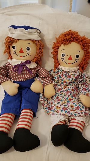 Vintage Raggedy Ann & Andy Dolls Collectable Antique for Sale in TWENTYNIN PLM, CA
