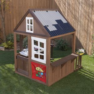 KidKraft Ryan's World Outdoor Playhouse Kids Wooden Play House Backyard Cottage for Sale in Humble, TX