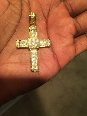 "2"" Gold Plated Cross Pendant for Sale in Arlington, VA"