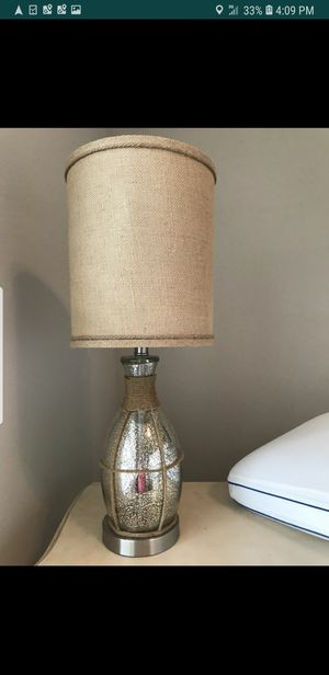 Burlap shade vintage style lamp for Sale in Pasadena, TX