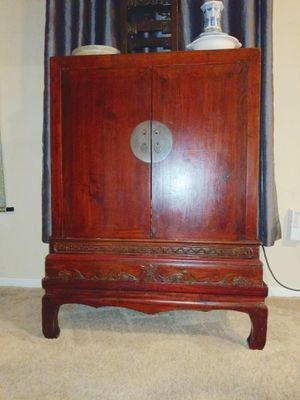 antique carved Chinese altar cabinet! Gorgeous! for Sale in Austin, TX