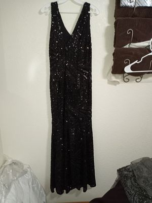 Black prom dress size 10 for Sale in Hemet, CA