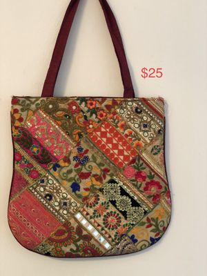 Unique embroidered front pattern tote bag for Sale in Lynchburg, VA