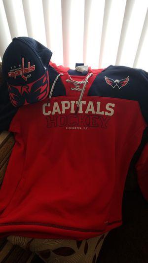 Washington capitals hockey hoodies and hat for Sale in Alexandria, VA