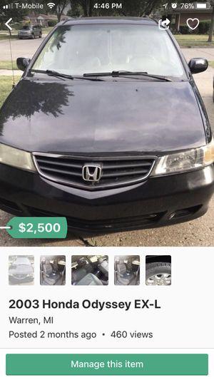 2003 Honda Odyssey EX-L for Sale in Warren, MI