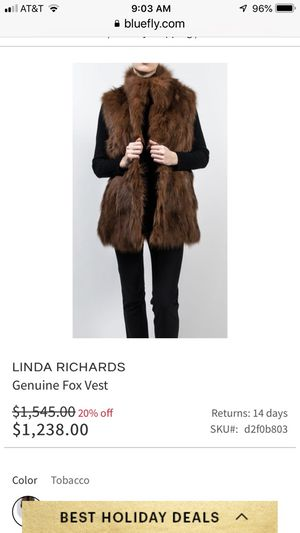 Fur vest for Sale in Whitefish Bay, WI