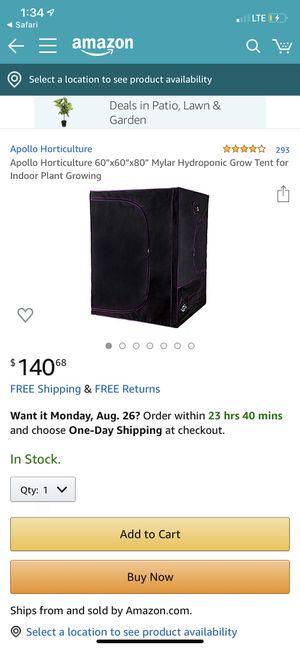 5x5 grow tent for Sale in Fullerton, CA