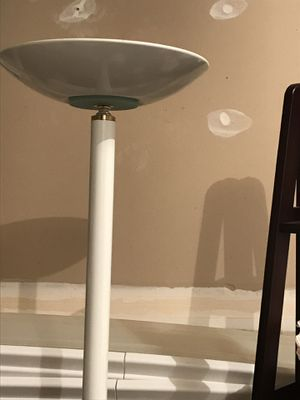 White torchiere floor lamp for Sale in Sterling, VA