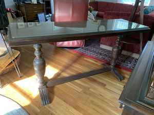 Walnut library table, antique for Sale in Garner, NC