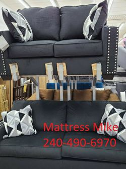 New Stock Ashley Furniture Black Color Polyester Material High Quality Sofa And Loveseat for Sale in Riverdale Park,  MD