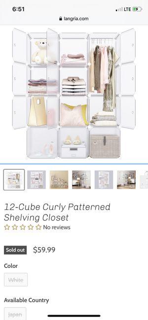 (2 units) Langria 12 Cube Portable Shelving Unit for Sale in West Palm Beach, FL