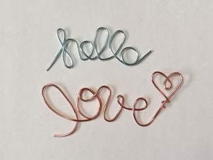 """Wire Embellishments """"Hello Love"""" with Bonus """"&"""" for Sale in Canton, OH"""