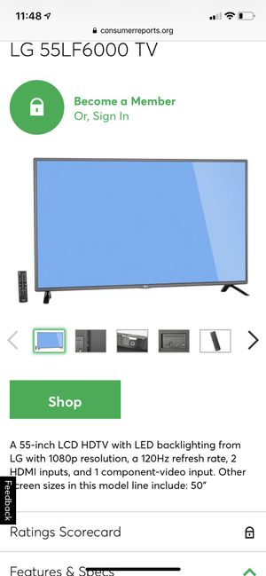 LG 55 inch LED Television for Sale in Miramar, FL