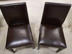 Pier One Chairs X2/Brown for Sale in Alderson, WV