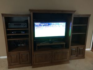 Media Center includes 2 bookshelves (not tv) for Sale in Naperville, IL