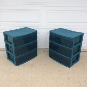 Sterilite 3 Drawer Plastic Bin.. 24h 21w 15d inches.. $7 each for Sale in Upland, CA