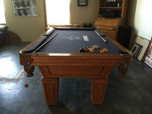 Cowboy logo pool table for Sale in San Angelo, TX