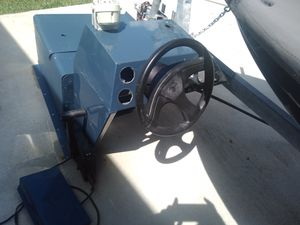 Side Console with live well Steering Cable Wheel Helm for John Jon Aluminum Boat Skiff for Sale in Fort Lauderdale, FL