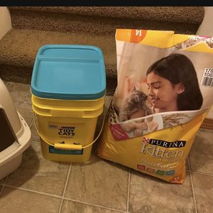 Cat supplies: litter and food for Sale in Portland, OR