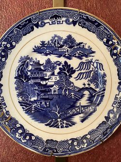 Enoch Woods English Scenery Blue Plate for Sale in Katy,  TX