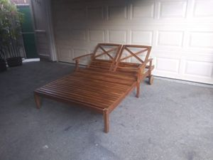 Outdoor patio double chaise lounge chair for Sale in Playa del Rey, CA
