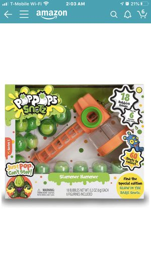 Pop Pops Snotz - Slammer Hammer Series 1 - 18 Bubbles Inside, Find 6 Surprise Snotz Inside, Look Out for The Limited Edition Glow in The Dark Snotz . for Sale in Hyattsville, MD