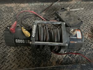 6000 pound winch $200 cones with remote works great $200 firm for Sale in Mebane, NC