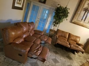 Reclining Leather sofas for Sale in Clovis, CA