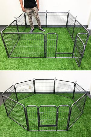 """New in box $70 Heavy Duty 24"""" Tall x 32"""" Wide x 8-Panel Pet Playpen Dog Crate Kennel Exercise Cage Fence Play Pen for Sale in Whittier, CA"""