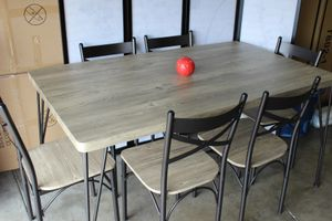 7 PC Dining Set, Grey & Bronzet for Sale in Norwalk, CA