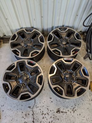 Factory Jeep Wrangler wheels. Includes tpms sensors for Sale in Auburn, CA