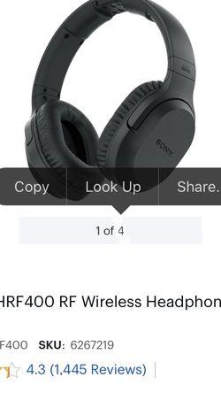 sonny's RF headphones for Sale in San Bernardino,  CA