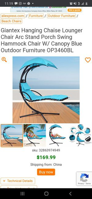 New Hanging Lounge Chair Porch Swing for Sale in Long Beach, CA