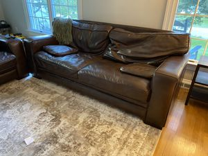 Luxury soft leather couch! Mint condition for Sale in Villanova, PA