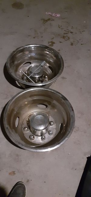 "2 NEW FORD F350 17"" Dually Stainless Steel Wheel Simulators Dual Rim Liners DOT for Sale in Bedford Park, IL"