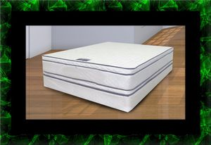 Queen mattress double pillowtop with box spring for Sale in Ashburn, VA