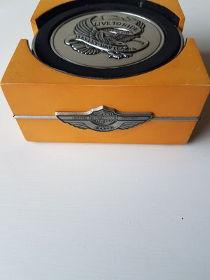Harley Davidson 100th Anniversary Metal Coasters for Sale in Raleigh, NC