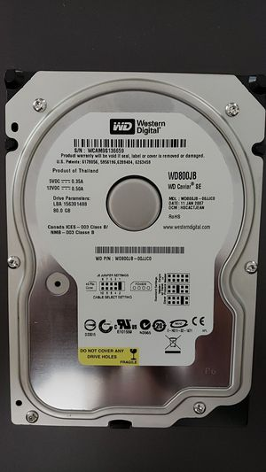 WD 80GB Hard Drive for Sale in Colchester, VT