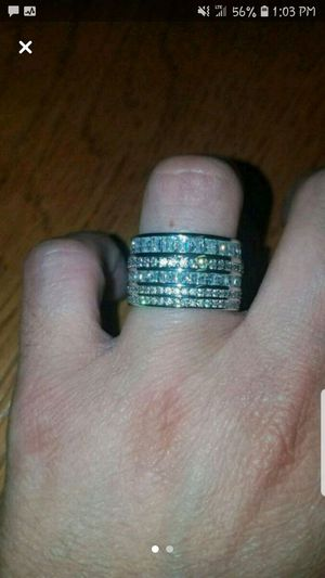 Sterling silver white sapphire band size 8 for Sale in Dundalk, MD