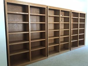 Solid Oak Bookshelves for Sale in Lakeside, CA